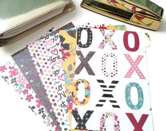 Planner Dividers // A5 or Personal Planner Dividers // A5 Planner Dividers // Personal Planner Dividers // Valentine Planner Dividers