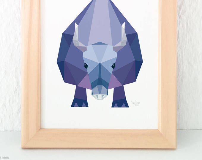 Yak illustration, Yak print, Wildlife art, Geometric animal art, Child nursery art, Nursery decor minimal, Animal illustration, Yak wall art