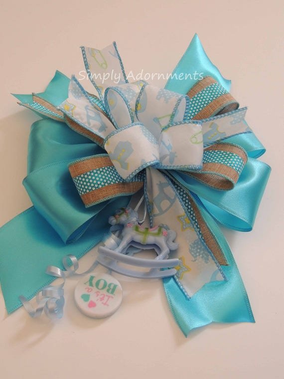 Its a boy Shower Baby Boy Shower Party Decor Blue Baby Shower Blue Shower Gift Bow Its a Boy Party Decor boy Baby Shower Its's Boy Gift Bow