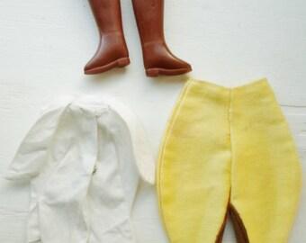 Vintage Barbie Outfit #1668 Riding In The Park 1966-1967, Pants, Shirt & Boots, Barbie Doll Clothes, Collectible Barbie Clothes, Barbie