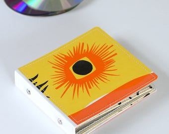 10 CD Case, CD Holder, DVD Storage Book, Game Case, Dvd Binder, Cd Wallet Handmade from Upcycled Vinyl Record Album Cover