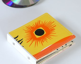 10 CD Case, CD Holder, DVD Storage Book, Game Case, Dvd Binder, Cd Wallet Handmade from Upcycled Vinyl Record Album Cover