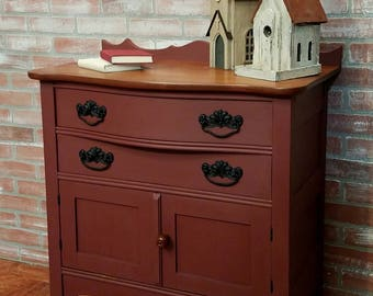 Painted Furniture, Antique Commode, Vintage Washstand,