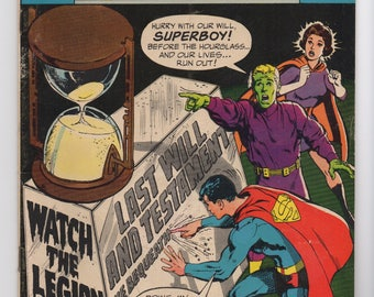 "Adventure Comics #378 ""Twelve Hours to Live"" - DC Comics 1969 - F+ Condition - Superbly and the Legion of Superheroes"