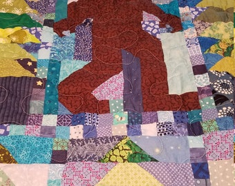 Throw / Youth Size Big Foot Quilt - 47 x 62