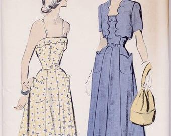 Vintage NOS 1950s Advance Pattern 5180 Ladies Sundress & Jacket Bust 40