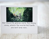 Adventures Claudia Her Favorite Places Were The Mossy Ones Porcelain Doll Nature Card Moss Notecard (1)