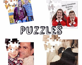 Personalized Photo Puzzle, Custom Jigsaw Puzzle, Photo Gift, Create Your Own Puzzle , Memory Puzzle