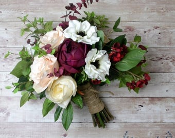 Fall wedding bouquet etsy fall wedding bouquet wedding bouquet wedding flowers bridal bouquet boho bouquet junglespirit Image collections
