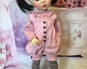 Dotted Corduroy Romper fits Saffi by My Meadow