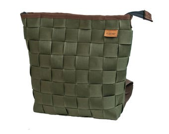 Backpack with Leatherstripes :)