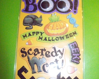 K & Company Halloween Adhesive Chipboard  16 pieces Trick or Treat