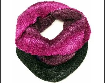 Hand-Knit Jewel Toned Gradient Cowl