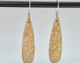 Natural Stone and Sterling Earrings