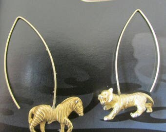 Tiger Zebra earrings