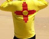 New Mexico Zia Hoodie flag zippy hoodie sweatshirt 505 gift state