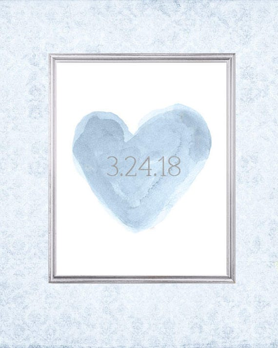 Wedding Date Gift, 8x10 Personalized Print with  Date