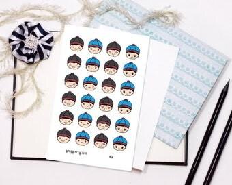 H2 Hmong Boy - 4x6 Vinyl Sticker Sheet