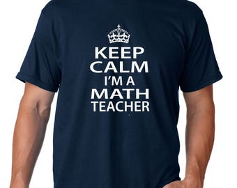 MATH TEACHER, math teacher shirt, teacher shirt, teacher gift, gift for teacher, back to school shirt, teacher's day, I'm a math teacher