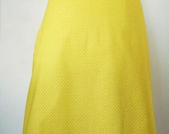 Lemon yellow Odette skirt polka dots 100% cotton