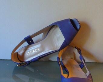 Escada Made in Italy  Leather  Flats Size 39 EU