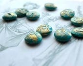 Teal Fairy Runes,  Divination, Fairy Magic, Nature Runes, Fairy Runes, Faerie Runes, Divination Tools, Rune Set, Fairy Magic, Natural Runes