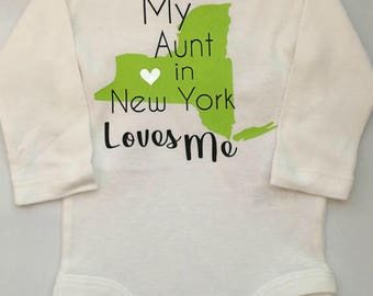 New york baby etsy baby girl baby boy new york personalized new york bodysuit someone in negle Images