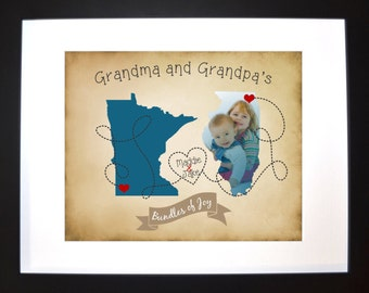 Gift ideas for grandparents personalized map art gift for grandparents day photo map grandma grandpa long distance grandkids print