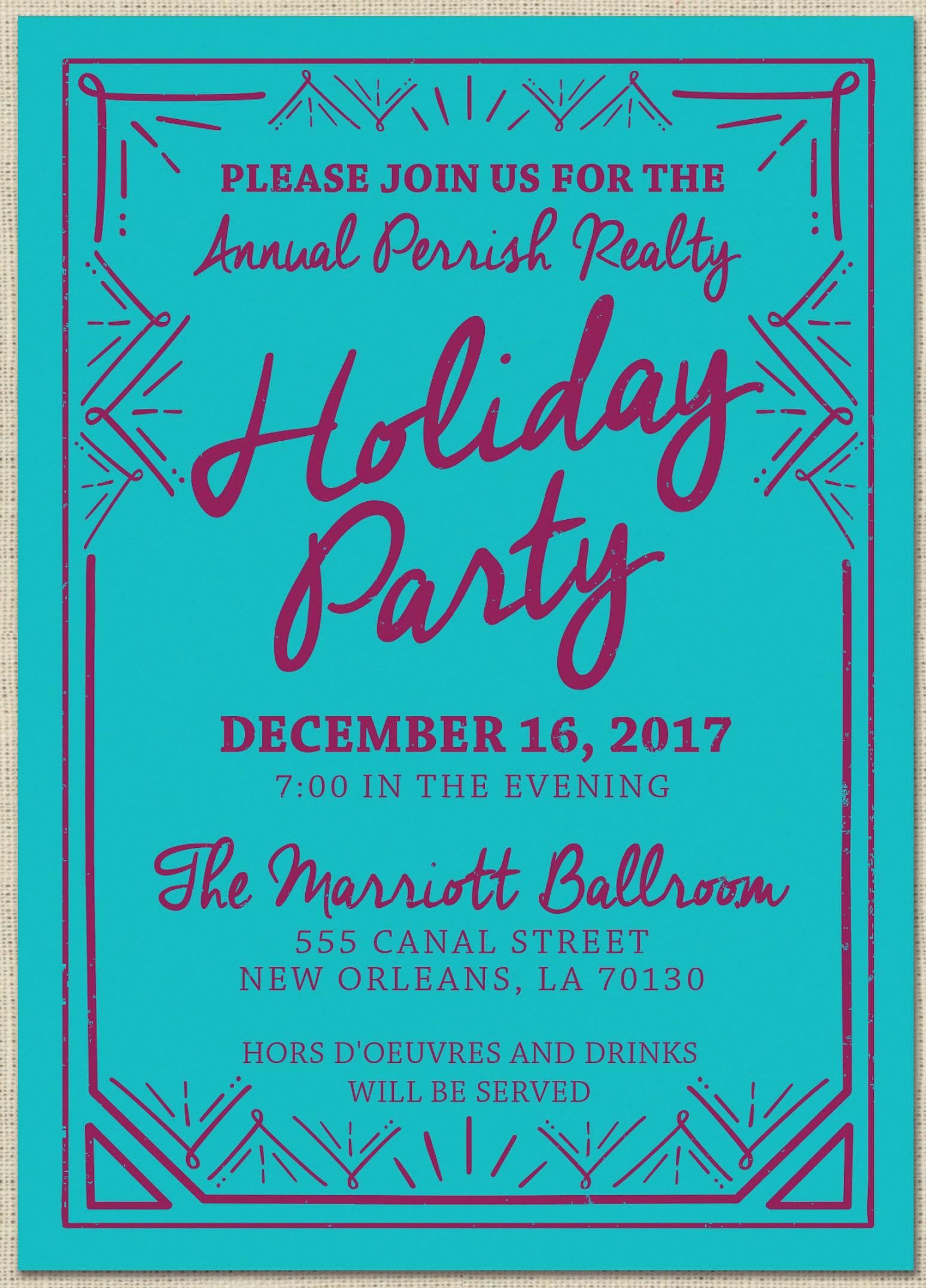 Christmas party invitation, Holiday party invitation custom ...