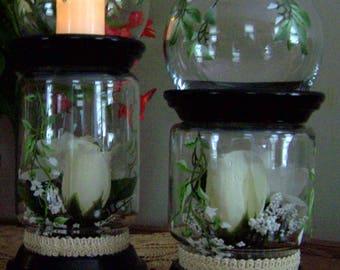 Floral Globe Votive Candle Holder