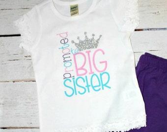 Promoted To Big Sister, Big Sister Shirt, Big Sister Outfit, Big Sister Gift, Promoted To Big, Big Sister T Shirt, Big Sister Toddler