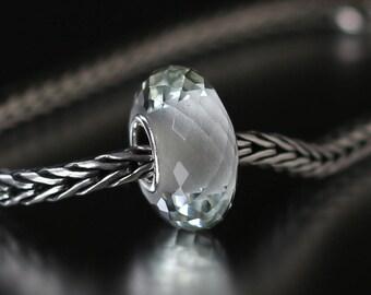Green amethyst faceted semi-precious gemstone 12-53