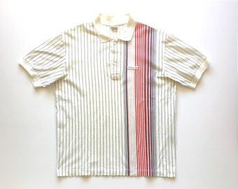 ELLESSE Pinstripe Cotton Polo. Sz 40/M. Italy.