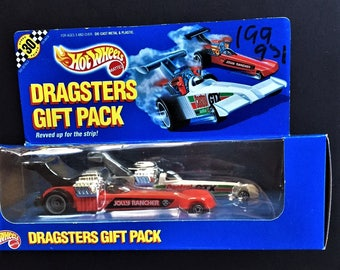 Hot Wheels 1990 Dragsters Gift Pack Featuring Castrol GTX & Jolly Rancher Dragsters Model No. 7449 New In Sealed Box