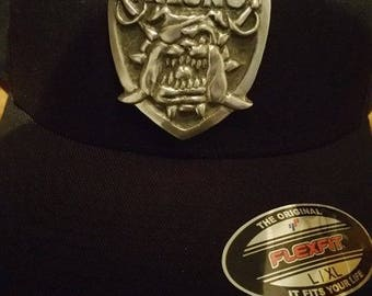 Custom Fresno State Raiders Pewter Shield w/ Cap
