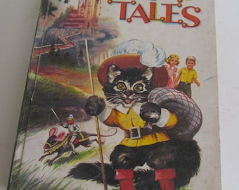 1949 Fairy Tales Puss in Boots Childrens Stories  Antique Childrens books Antique Rare Books Childrens Bedtime stories Bedtime Story Books