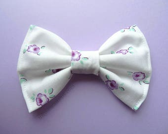 Pastel Lavender Rose Hair Bow- Kawaii -Fairy Kei -Pastel Goth-Cute - Harajuku - Sweet Lolita