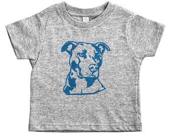 Pitbull Kids Tee, Pink Pitbull Shirt, Funny Pet Lover, Pitbull Shirt for Kids, Dog Kid Tees, Toddler Pitbull Shirt, Blue Pitbull, Dog Shirt