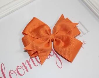 """Orange Large 4"""" Pinwheel Bow"""