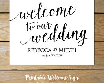 Wedding Welcome Poster // Large Welcome Sign Wedding // Editable Welcome Sign // Wedding Welcome Sign Template