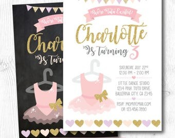 Tutu Invitation, Tutu Birthday party, Ballerina invites, Ballerina Birthday, Ballerina invitation, Ballet Invitation,  DIGITAL Invitation