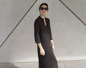 Wool Kaftan Dress, Sweater Dress, Winter Wool Dress, Long Sleeve Dress, Wool Dress, Long  Sleeve Wool Dress, Gift, Long Sleeve Kaftan Dress