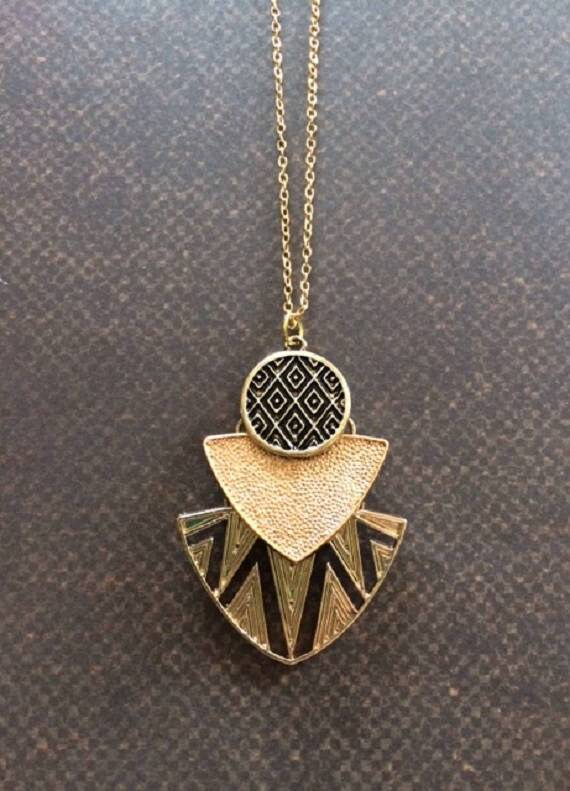 Aztec necklace aztec jewelry aztec pendant layered like this item mozeypictures Gallery