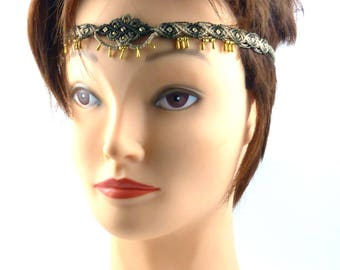 Head band macrame - gradient ref: 0002 - shades of Brown