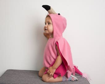 Flamingo Costume, Halloween Costume, Party Costume, Halloween Costume for Girls, Toddler Girl Costume, Pink Bird Costume