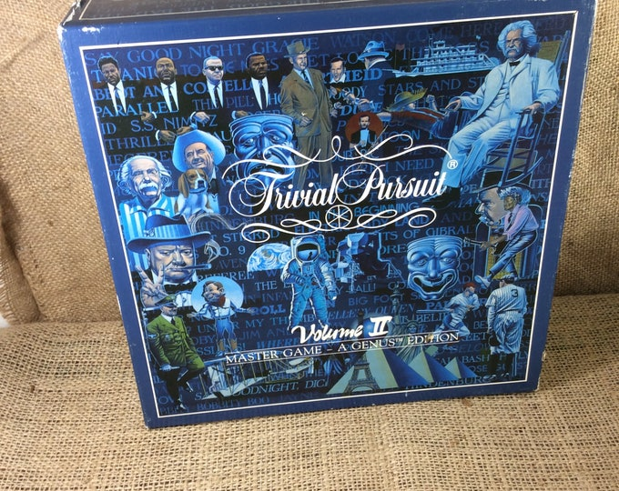 Trivial Pursuit from 1987, vintage Trivial Pursuit Volume II master game a Genus edition, 1980's games, Trivial Pursuit board game, games