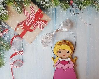 Aurora Christmas Ornament, Disney Princess, Elsa, Anna, Cinderella, Rapunzel, Jasmine, Snow White, Belle, Moana, Tiana, Ariel, Merida, Mulan