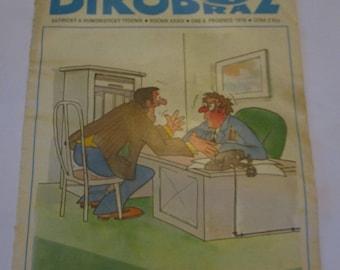Vintage Dikobraz 1978 Petr Pazderka Satiricky A Humoristicky Czechoslovakia Czech satire/humour