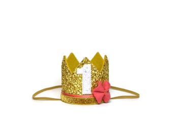 Belle Crown || Princess Belle || Beauty and the Beast First Birthday Outfit Girl || Girl Crown || Gold Birthday Hat || Girl Cake Smash ||