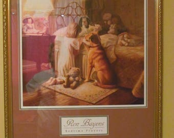 "Christain Children's Print ""Bedtime Prayers"" by Ron Bayens"